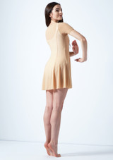 Vestido de baile lirico con mangas cortas Ceres Move Dance Marrón Claro trasera. [Marrón Claro]