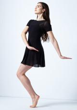 Vestido de baile lirico con mangas cortas Ceres Move Dance Negro frontal. [Negro]
