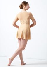 Vestido de baile lirico con mangas cortas para joven Kari Move Dance Marrón Claro trasera. [Marrón Claro]