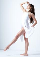Vestido de baile lirico cruzado en la espalda Ariel Move Dance Blanco frontal. [Blanco]