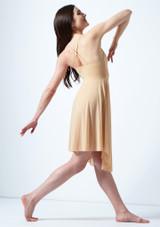 Vestido de baile lirico cruzado en la espalda Ariel Move Dance Marrón Claro trasera. [Marrón Claro]