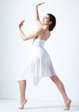 Vestido de baile lirico cruzado en la espalda Ariel Move Dance Blanco trasera. [Blanco]