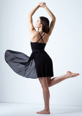 Vestido de baile lirico cruzado en la espalda Ariel Move Dance Negro trasera. [Negro]
