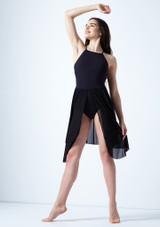 Vestido de baile lirico cruzado en la espalda Ariel Move Dance Negro frontal. [Negro]