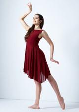 Vestido de baile lirico asimetrico Pandora Move Dance Rojo frontal. [Rojo]