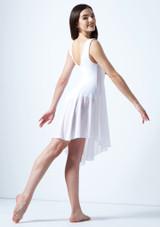Vestido de baile lirico asimetrico Pandora Move Dance Blanco trasera. [Blanco]