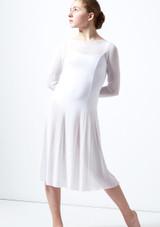 Vestido de baile lirico de manga larga para joven Dia Move Dance Blanco frontal. [Blanco]