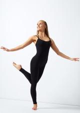 Mono entero con doble espalda cruzada Lucie Move Dance Negro frontal. [Negro]