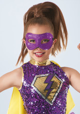 Weissman Glitter Mask Violeta frontal. [Violeta]