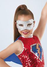 Weissman Glitter Mask Plata frontal. [Plata]