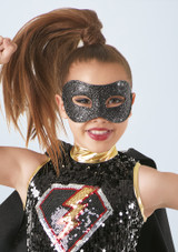 Weissman Glitter Mask Negro frontal. [Negro]