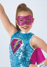 Weissman Glitter Mask Rosa frontal. [Rosa]