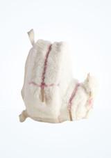 Mochila Cisne de Peluche Capezio Blanco lateral. [Blanco]
