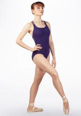 Maillot Ballet con Espalda Cruzada So Danca Azul Oscuro frontal. [Azul]
