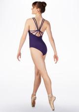 Maillot Ballet con Espalda Cruzada So Danca Azul Oscuro trasera. [Azul]