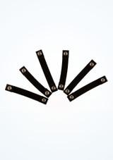 Boton elastico de Capezio Negro frontal. [Negro]