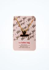 Collar Swan Tutu Ballet Bag Negro frontal #2. [Negro]