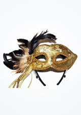 Braided Feather Eyemask Oro #2. [Oro]