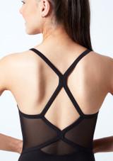 Maillot camisola con ribete  de diamantes para joven Bloch Negro  Detalle trasero-1 [Negro ]