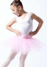 Tutú de ensayo sin cordones para niñas Alegra Rosa Delante-1T [Rosa]