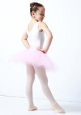Tutú de ensayo sin cordones para niñas Alegra Rosa Detrás-1 [Rosa]