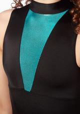 Maillot Ballet con Cuello Alto Alegra Fuse Azul frontal #2. [Azul]