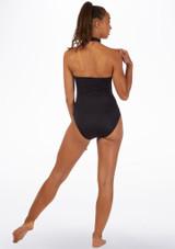 Maillot Ballet con Cuello Alto Alegra Fuse Negro-Oro trasera. [Negro-Oro]