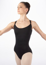 Bloch Maillot Alexis Negro frontal. [Negro]