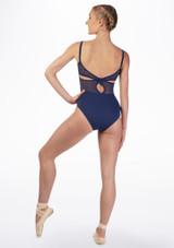 Maillot con nudo trasero y encaje Juliet Mirella Azul trasera. [Azul]