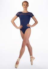 Maillot con espalda de encaje Juliet Mirella Azul frontal. [Azul]
