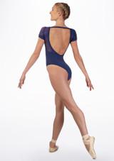 Maillot con espalda de encaje Juliet Mirella Azul trasera. [Azul]