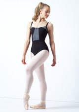 Maillot camisola con cremallera frontal Vilette Bloch Negro frontal. [Negro]