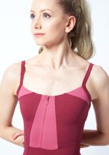 Maillot camisola con cremallera frontal Vilette Bloch Rosa frontal #2. [Rosa]