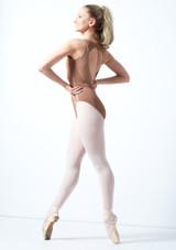 Maillot Ballet con Espalda Descubierta sin Mangas Esrah Bloch Negro trasera. [Marrón]