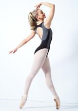 Maillot Ballet con Espalda Descubierta sin Mangas Esrah Bloch Rosa frontal #2. [Negro]