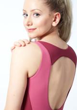 Maillot Ballet con Espalda Descubierta sin Mangas Esrah Bloch Marrón frontal #2. [Rosa]