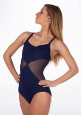 Maillot Ballet Agnella K H Martin Azul frontal. [Azul]