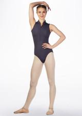 Maillot Ballet Moxie Gaynor Minden Gris frontal. [Gris]