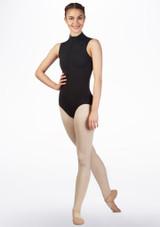 Maillot Ballet Moxie Gaynor Minden Negro frontal. [Negro]