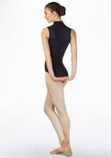 Maillot Ballet Moxie Gaynor Minden Negro frontal #2. [Negro]