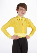 Camisa de Baile Deportiva Nino de Colores Pablo Move Dance Amarillo frontal. [Amarillo]