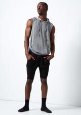 Dincwear Pantalones harem cortos unisex Negro. [Negro]