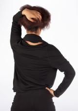 Dincwear Top cruzado y drapeado mujer Black [Negro]
