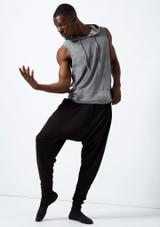 Dincwear Pantalones harem unisex Negro. [Negro]