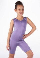 Mono de Baile Corto de Ciclista Nina Alegra Violeta frontal #2.