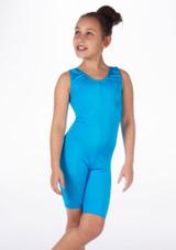 Mono de Baile Corto de Ciclista Nina Alegra Azul frontal. [Azul]