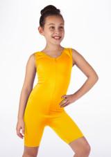 Mono de Baile Corto de Ciclista Nina Alegra Amarillo frontal.