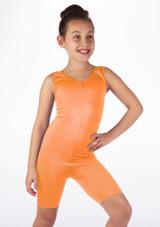 Mono de Baile Corto de Ciclista Nina Alegra Naranja frontal. [Naranja]