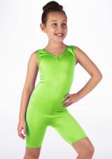 Mono de Baile Corto de Ciclista Nina Alegra Verde frontal.