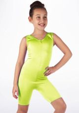 Mono de Baile Corto de Ciclista Nina Alegra Amarillo frontal #2.